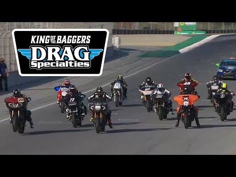 MotoAmerica Drag Specialties King of the Baggers Race at Laguna Seca 2020