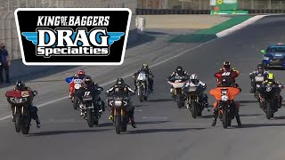 MotoAmerica Drag Specialties King of the Baggers Race at Laguna Seca 2020