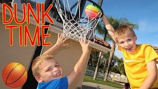 SLAM DUNK!! Mini NBA Finals! Basketball Challenge Chris, Zac & David