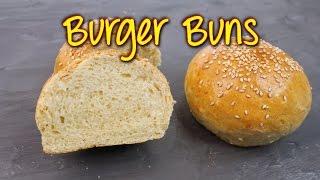 BURGER BUNS SELBER MACHEN | Hamburger Brötchen Rezept [einfach & gelingsicher]