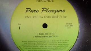 Pure Pleazure - when will you come back to me (Radio Edit)