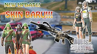 UPDATE BARU !! BORONG SKIN !!! - Rules of Survival Indonesia