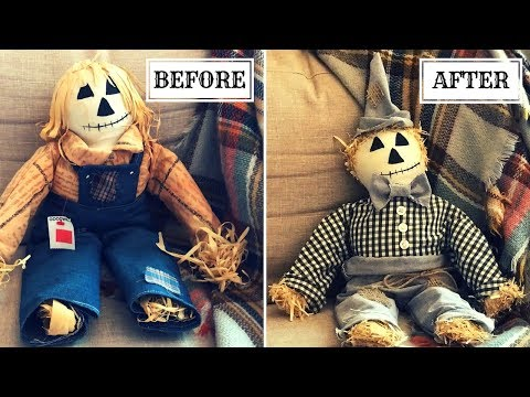 FALL THRIFT STORE FLIP|DIY SCARECROW MAKEOVER