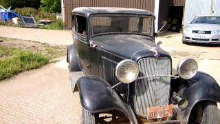 1932 Ford V8 flathead original Barnfind first run after 50 years