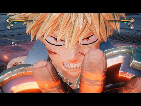 Jump Force - Bakugo Katsuki Movesets + Vs Battles Gameplay! DLC Pack #5