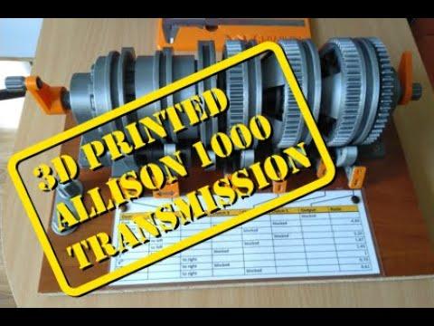 Allison 1000 transmission 3D printed, manual