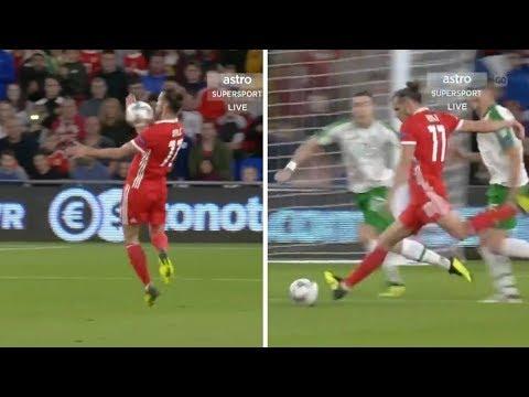 El impresionante control y golazo por la escuadra de Bale ⚽ Gales-Irlanda ⚽ 2018