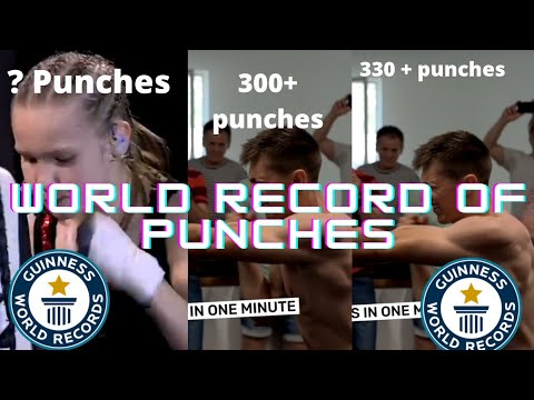 most punches in one minute world record // fun fact