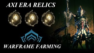 Warframe Farming - Axi Era Relics (The Index Preview Patch)