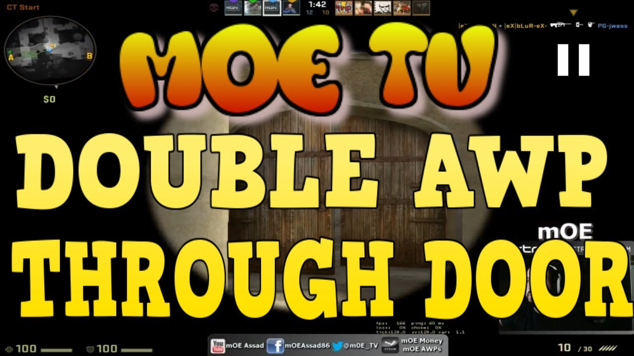 mOE CSGO CRAZY DOUBLE AWP THROUGH DOORS WITH 4K  sc 1 st  YouTube & mOE CSGO: CRAZY DOUBLE AWP THROUGH DOORS WITH 4K - YouTube