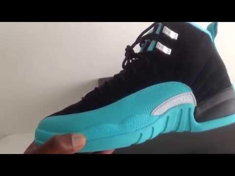d2256aa5fbc Air Jordan 12 Retro Black Hyper Jade First Look - YouTube