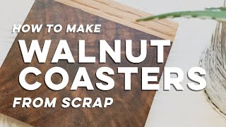 How to Make Walnut Coasters with Oak from Scrap // DIY