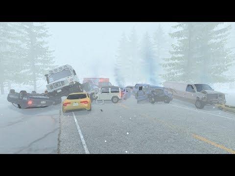 Multi-Vehicle Pileup Crashes 19 | BeamNG.drive