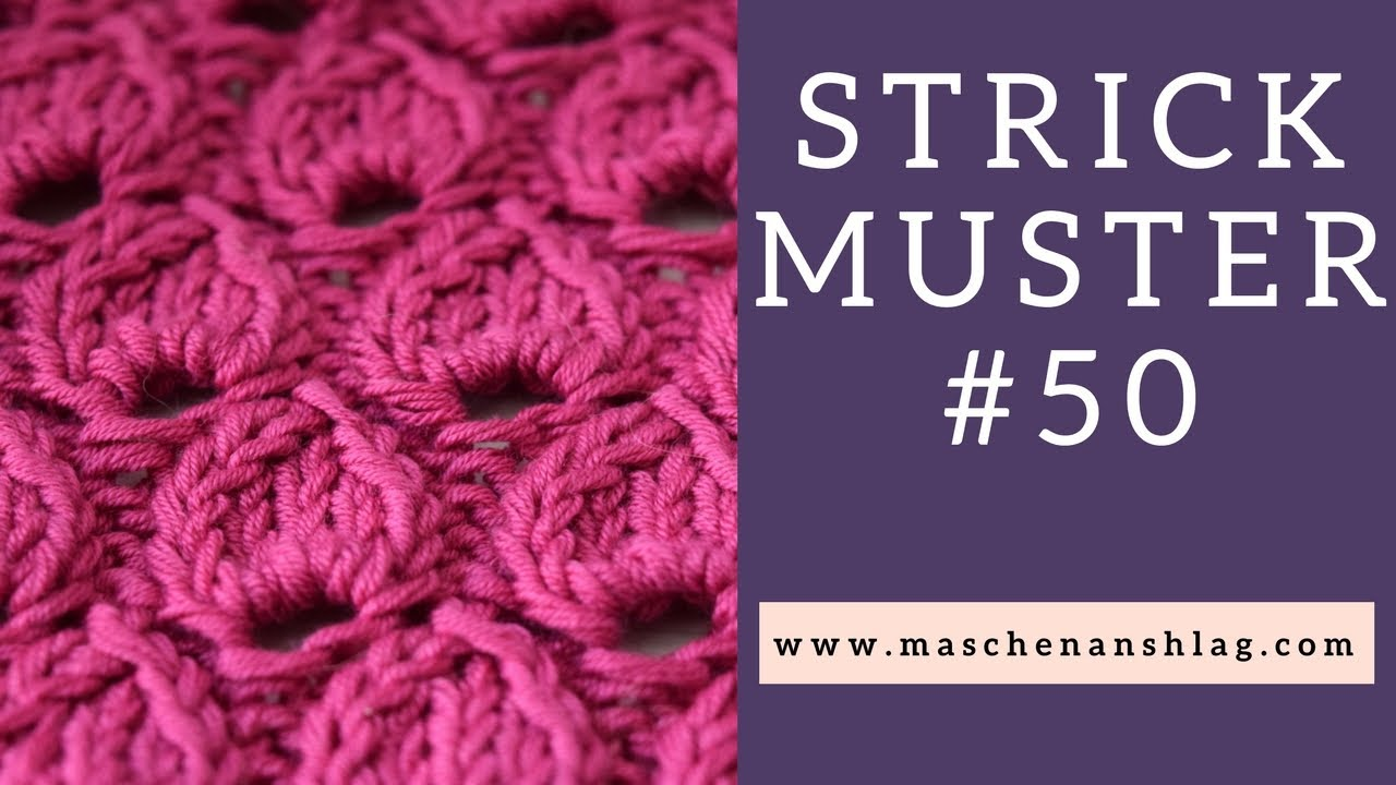 Tropfenmuster stricken | Strickmuster #50 | Lochmuster - YouTube