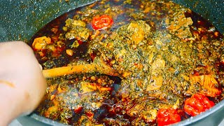Plasas/Potatoe leaves and groundnut Soup  Sauce Feuilles de Patate  Li saff bimm saff 🚘 bu bess la!