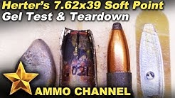 7.62x39 Herters 154gr soft point test and teardown