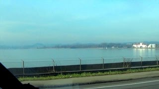 VIDEO RELAX :On Roads From Bregenz Austria by Lindau to Wasserburg Germany