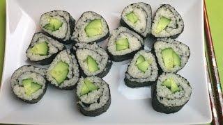 ✔РОЛЛЫ С ОГУРЦОМ/Roll with cucumber(РОЛЛЫ С ОГУРЦОМ/Roll with cucumber Ингредиенты: 1/2 кг риса для суши или круглозерного риса рисовый уксус листы..., 2015-09-01T12:37:22.000Z)