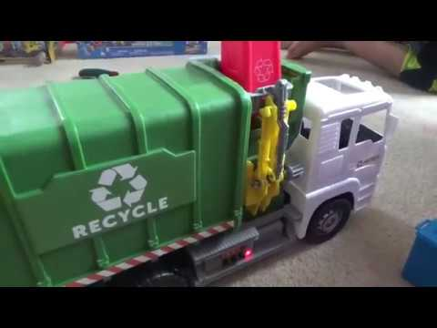 Kid Connection Light & Sound Recycling Truck Play Set Garbage Truck - Leon Toy Time