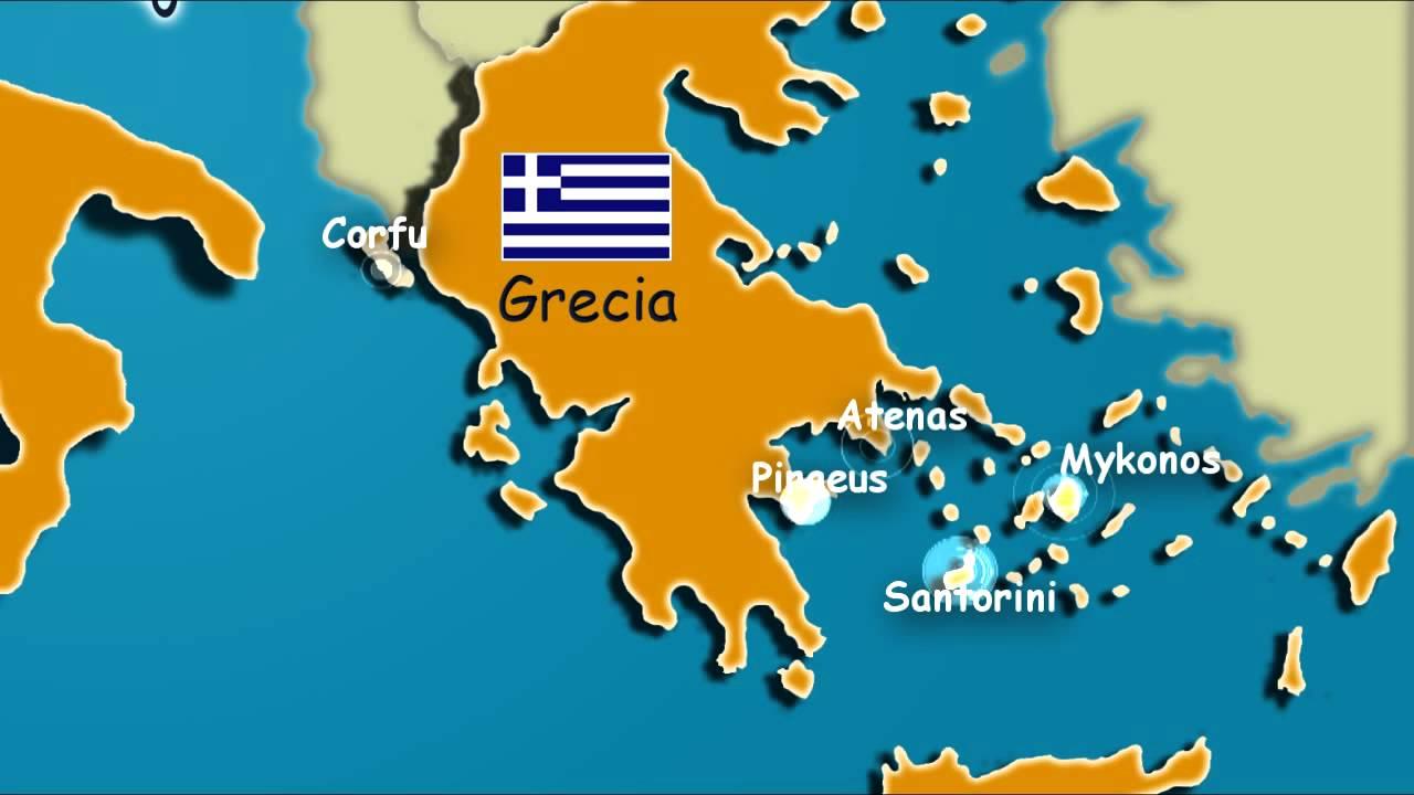 santorini mapa mapa santorini   YouTube santorini mapa