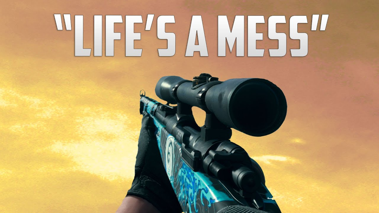 """""""LIFE'S A MESS"""" Modern Warfare Sniping Montage"""