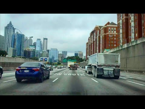 Driving from Atlanta Downtown to Tampa (The Tampa Bay Area) via Interstate Highway 75 (I-75)