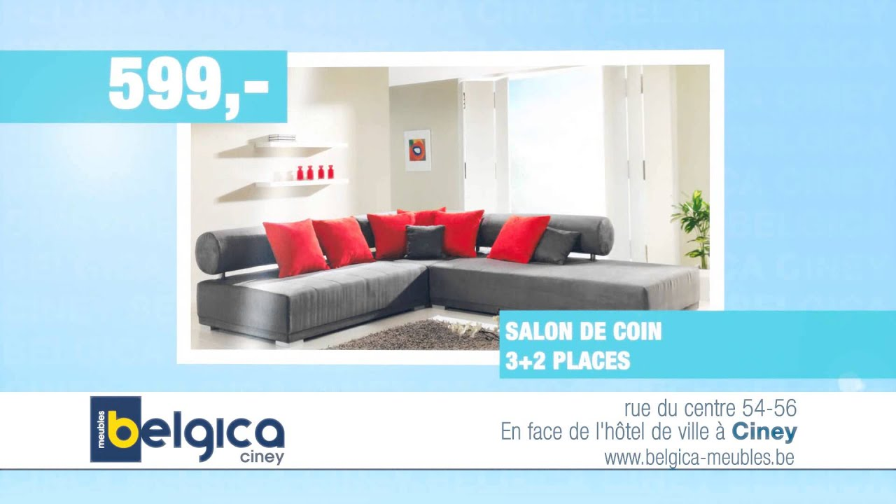 Belgica spot TV : grand déstockage de printemps ! super promo canapé moderne