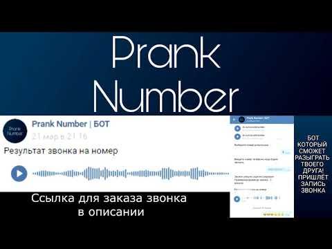 Prank Number   БОТ Подборка звонков-пранков #1