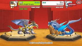 Dragon City: White Knight Dragon Battle & Skills