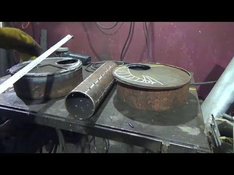 Как сварить печь на отработке своими руками чертежи и схемы