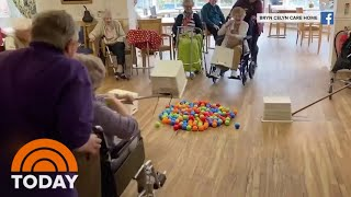 seniors Play Real-Life Hungry Hungry Hippos While Social Distancing | NowThis