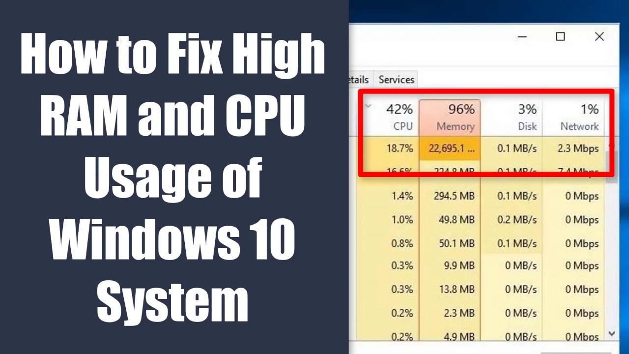 system cpu usage high windows 10