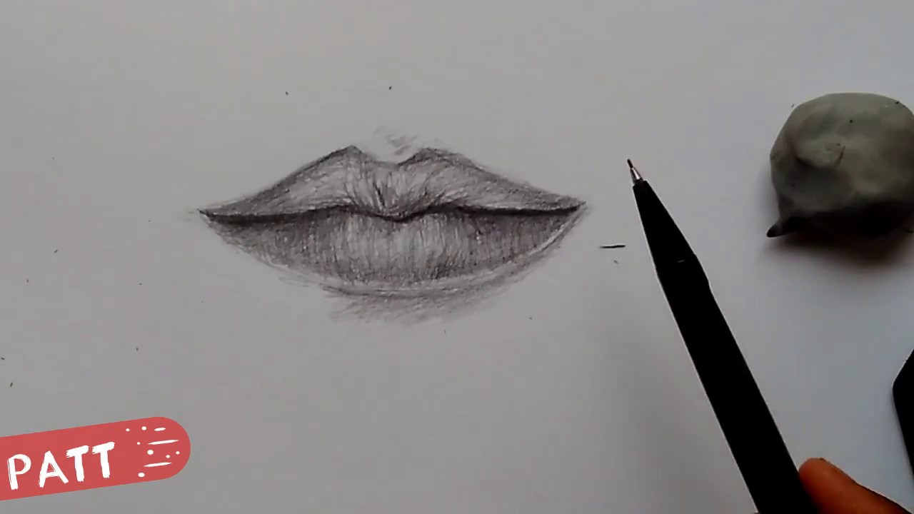 How To Draw Lips Cara Menggambar Bibir Tutorial Youtube