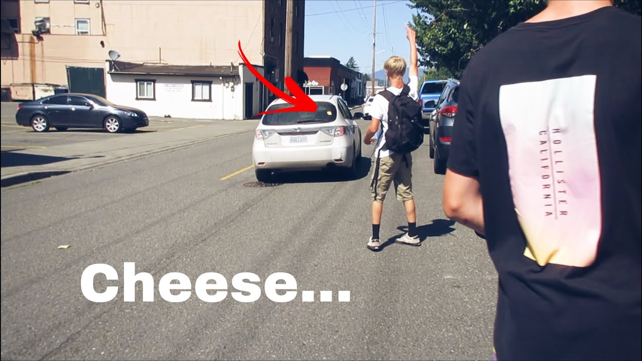 THROWING CHEESE AT CARS!!