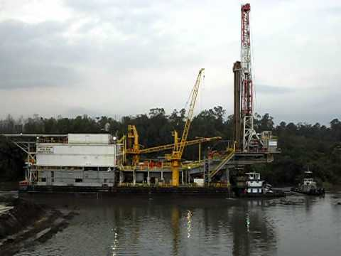 Swamp rig moving in Nigeria