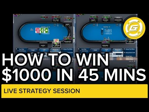 How To Win Over $1000 In 45 Minutes | Online Poker Strategy