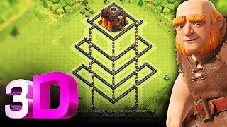 Clash of Clans - 3D TROLL BASE - FUNNY REPLAYS - DONT STEAL MY GOLD!