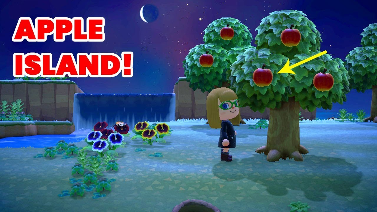 Apple Tree Island In Animal Crossing New Horizons Gameplay Commentary Youtube