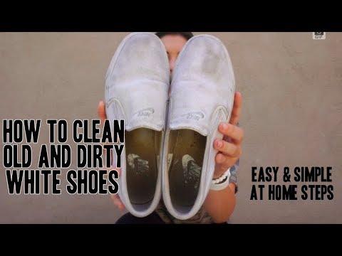 Как отмыть белые кроссовки в домашних условиях ( белая краска для .