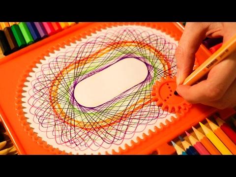 ASMR Satisfying Spirograph Drawing