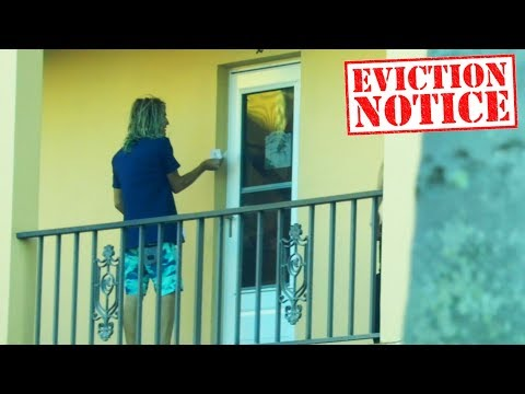 EVICTION NOTICE DING DONG DITCH PRANK!! (Gone WRONG)