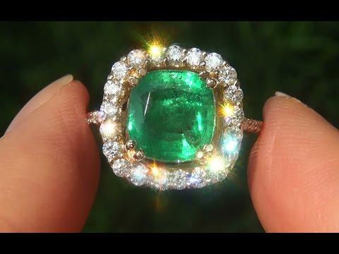 GIA Certified Natural Green Emerald Diamond 14k Yellow Gold