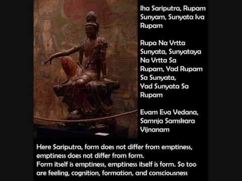 Heart Sutra (Prajna Paramitha Hridaya Sutra) - lyrics Sanskrit and English