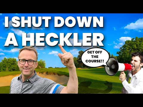 18 HANDICAP GOLFER TAKES ON SINGLE HANDICAP PLAYER! PLUS A HECKLER!! - GOLF WITH FRIENDS MONEY MATCH