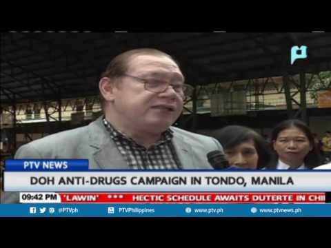 DoH anti-drugs campaign in Tondo, Manila