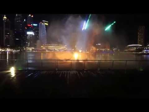 Light And Water Show Singapore WONDER FULL Marina Bay HD