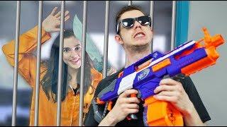 NERF Robot Prison Escape Challenge!