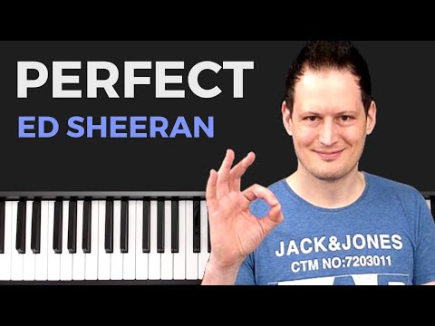Ed Sheeran - Perfect -  Piano Tutorial Easy - Deutsch