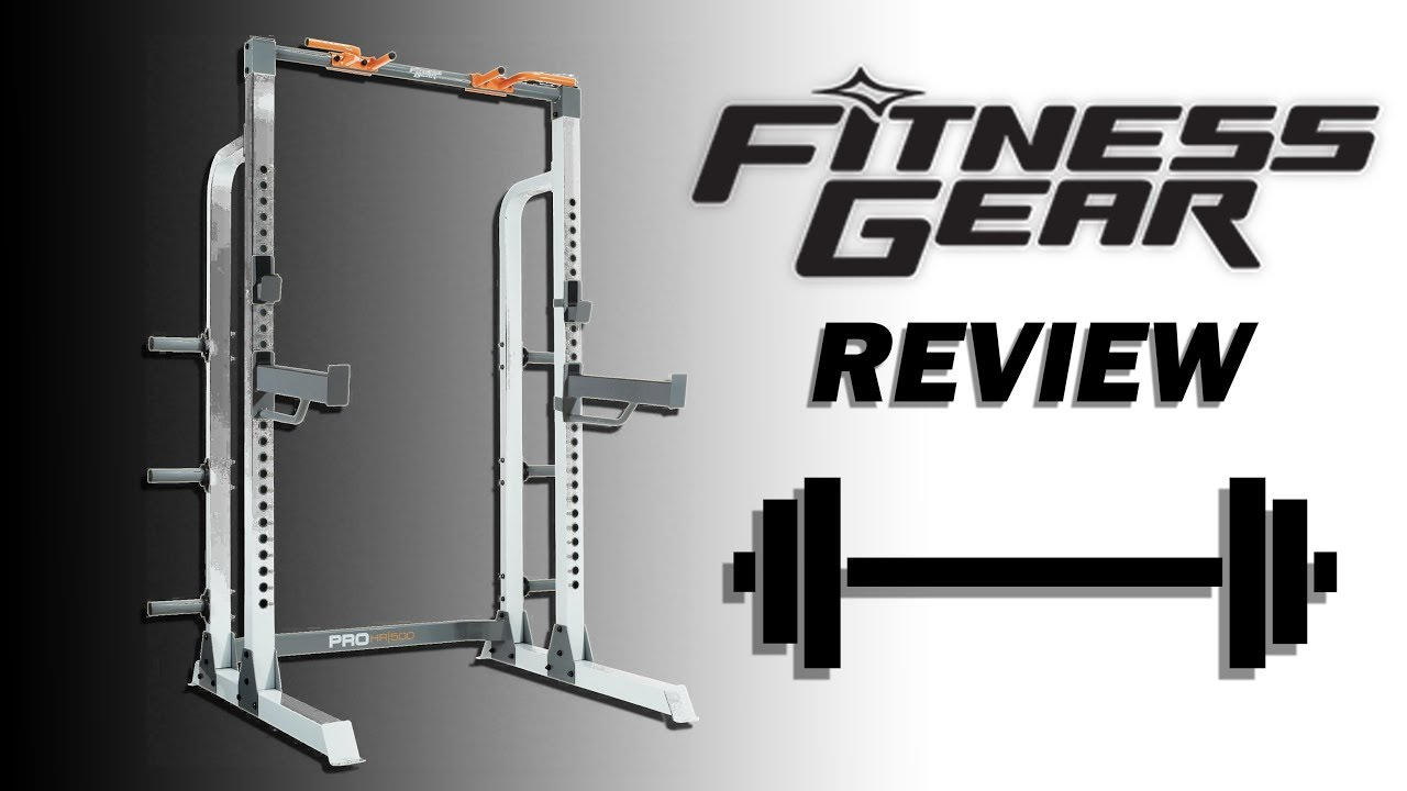 Garage Gym Half Rack Fitness Gear Half Rack Pro 500 Review