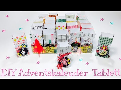 DIY Adventskalender-Tablett [tutorial | Deutsch]
